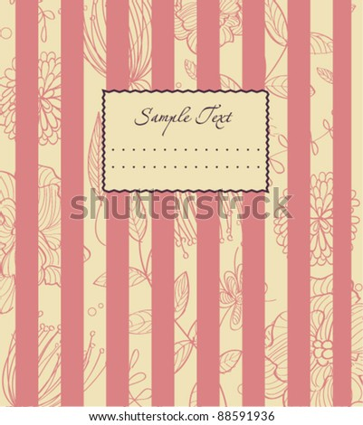 loving pink background - stock vector