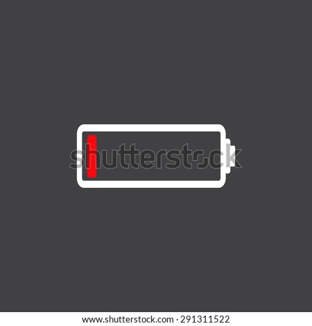 Low battery icon - stock vector