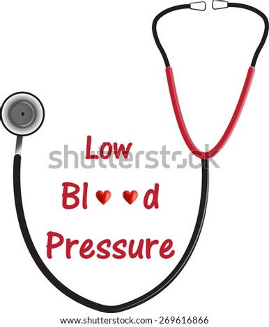 Low Blood Pressure (Hypotension) - stock vector