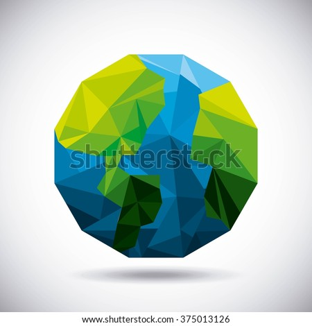 low poly design  - stock vector