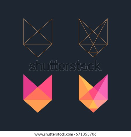 Low poly Fox logo