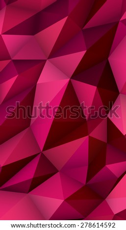Low Poly Modern Display Abstract Triangle Background for Smartphone, Mobile, Device. Vector Illustration - stock vector