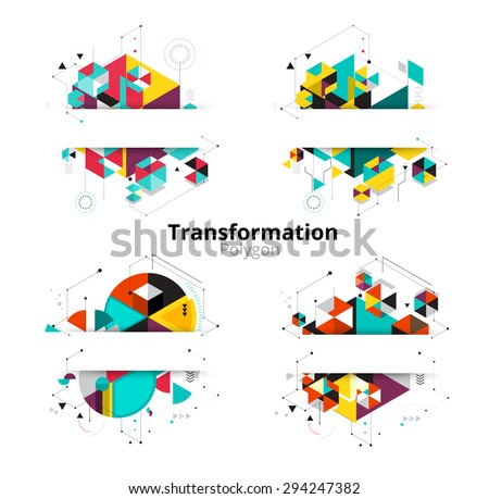 Low polygon. geometry polygon abstract banner. vector illustration - stock vector