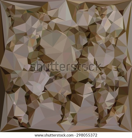 Low polygon style illustration of a french bistre brown abstract geometric background. - stock vector
