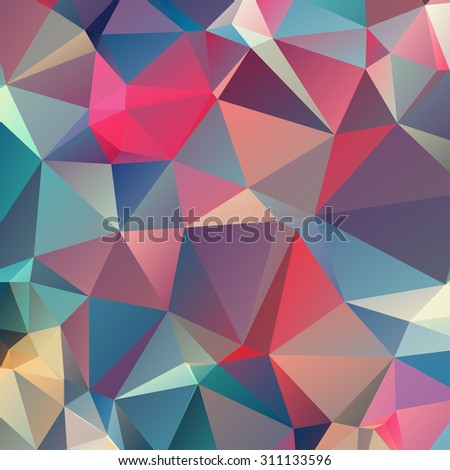 Low polygon Triangle Pattern Background,vector