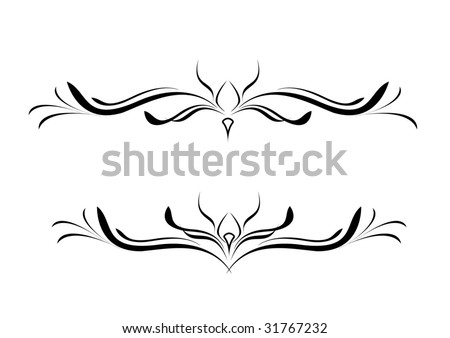 lower back tattoo - stock vector