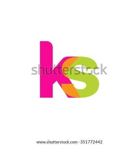 K S Logo ks logo, pink green overlap transparent logo, modern lifestyle logo ...
