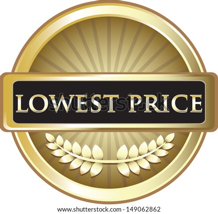 Lowest Price Pure Gold Award - stock vector