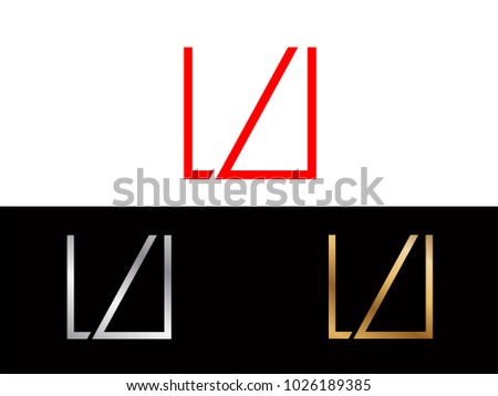 Lu Square Shape Red Silver Gold Stock Vector 1026189385 Shutterstock