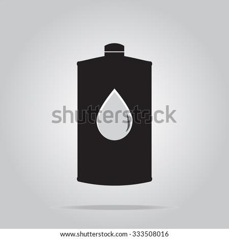 Lubricant icon illustration - stock vector