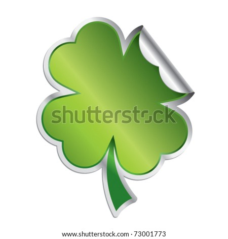 Lucky leaf - St. Patrick's day symbol - stock vector