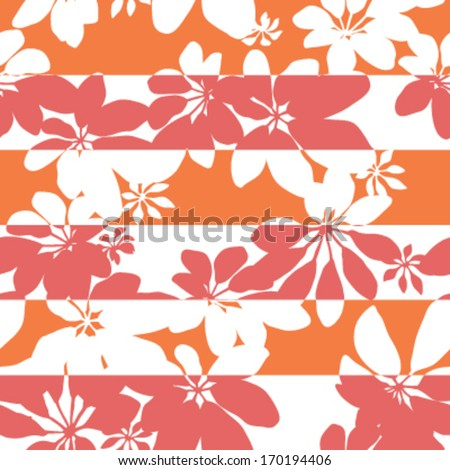 Lucky Stripe Pop Botanical Seamless Background Pattern