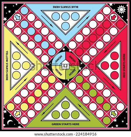 Ludo board game - stock vector