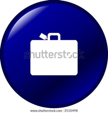luggage button - stock vector