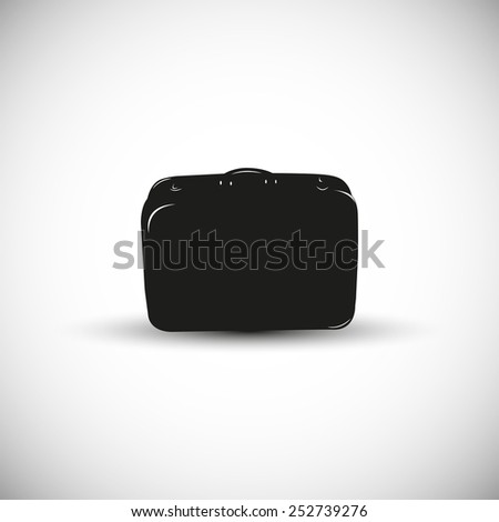 Luggage illustration - 3d view design. - stock vector