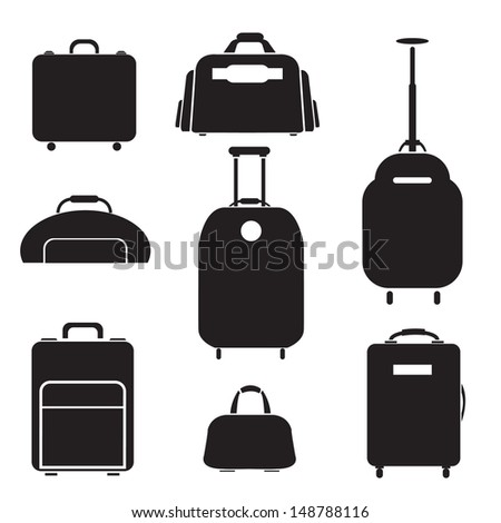 Luggage set vector - stock vector