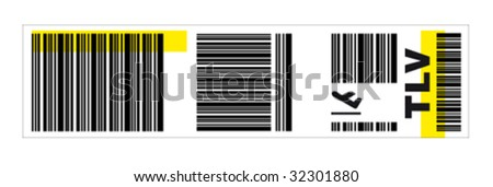 Luggage sticker - stock vector