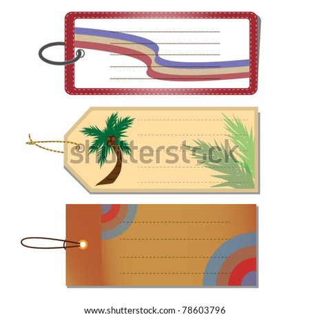 Luggage Tags Vector - stock vector