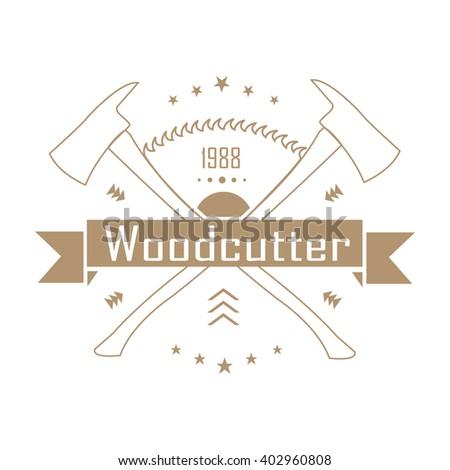 lumberjack axe logo. lumberjack logo , axe vector graphics a