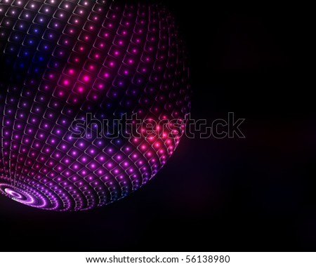 luminous globe - stock vector