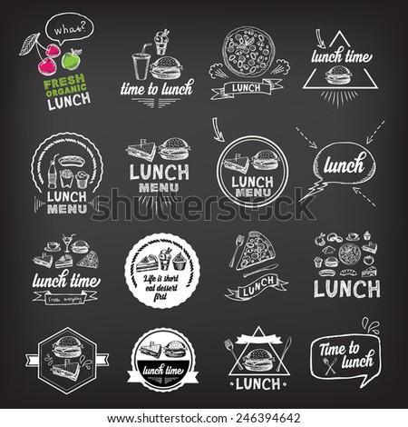 Lunch menu, restaurant design. - stock vector