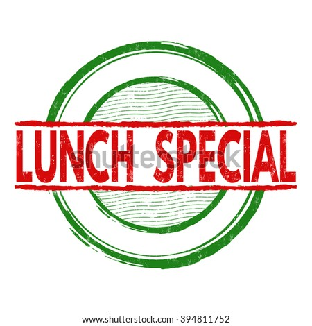 Special promotion grunge rubber stamp on stock vector for Lunch specials