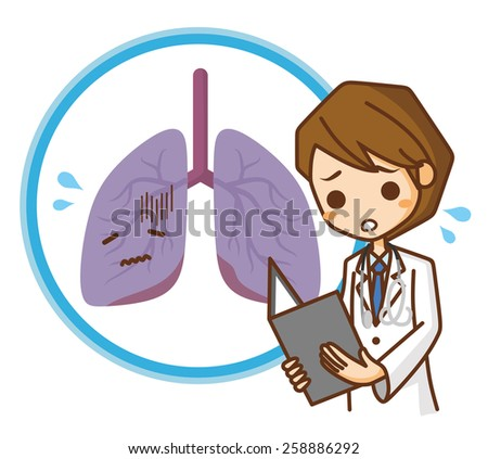 Lung illustrations - stock vector