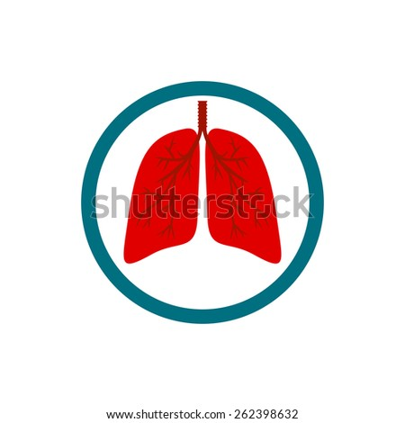 lungs of the person. logo. - stock vector