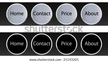 Luxary metalic web navigation templates. - stock vector