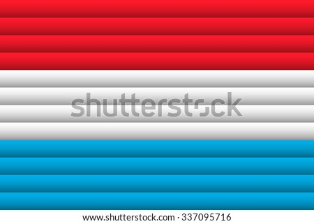 Luxembourg Flag. Vector Illustration.