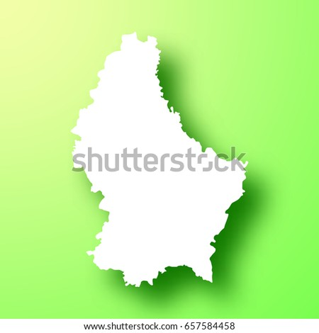 Luxembourg Map Isolated On Green Background Stock Vector - Luxembourg map vector