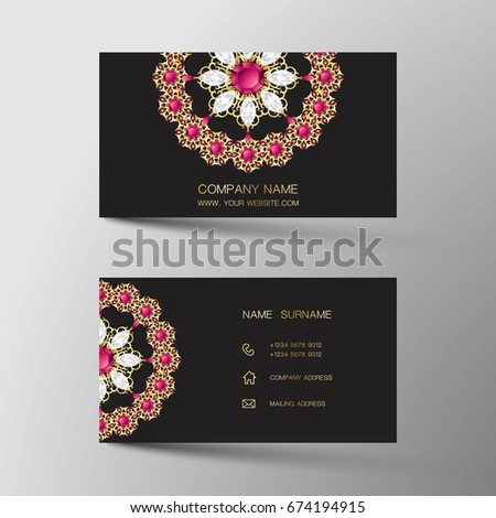 Luxurious indian business card diamond gem stock vector royalty luxurious indian business card diamond gem jewelry color colourmoves