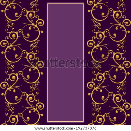 Luxurious menu template with intricate golden elements - stock vector