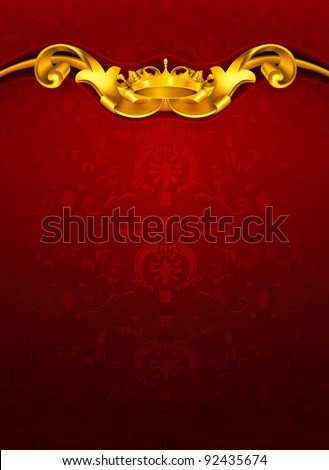 Luxurious pattern, red 10eps - stock vector