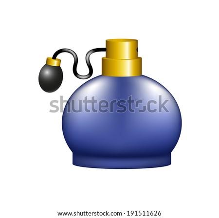 Luxurious perfume in retro design - stock vector