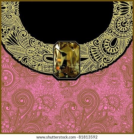 luxury background with jewel - stock vector