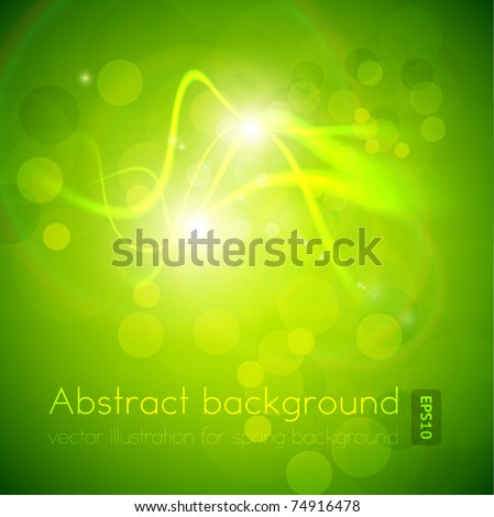 Luxury bright green abstract greeting card. Vector spring background for summer design. Eps10. - stock vector