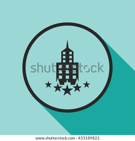 luxury building icon. 5 star hotel vector illustration