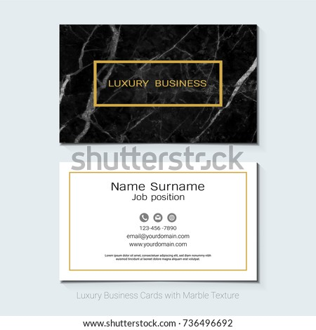elegant business card design template stock vector 708725845