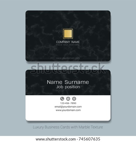 Luxury business cards vector template simple stock vector 745607635 luxury business cards vector template simple style also modern and elegant with marbling texture imitation reheart Images