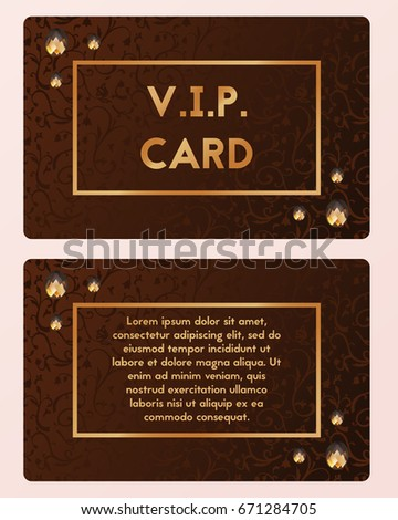 Luxury business visit visiting card vector stock vector 671284705 luxury business visit visiting card vector illustration vip cutaway with expensive gemstone colourmoves