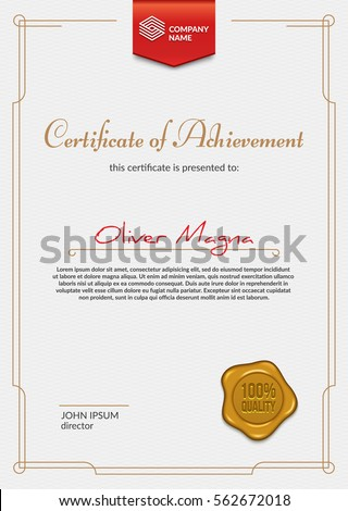Luxury certificate design ribbon badge golden stock vector luxury certificate design ribbon badge golden stock vector 562672018 shutterstock yadclub Image collections