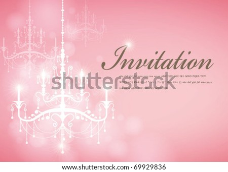 Luxury Chandelier background 10 - stock vector