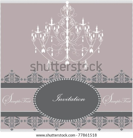 Luxury chandelier background