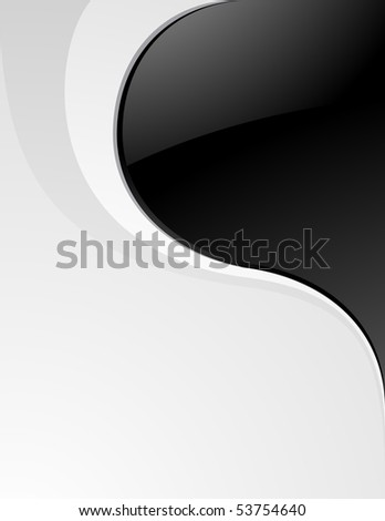 Luxury clean black and white background - stock vector