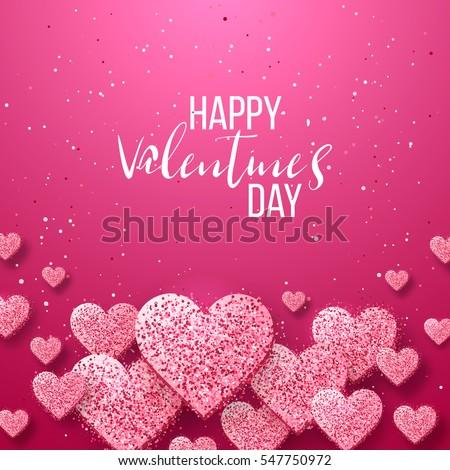 Happy Valentine Day Festive Sparkle Layout Stock Vector 544309360 ...