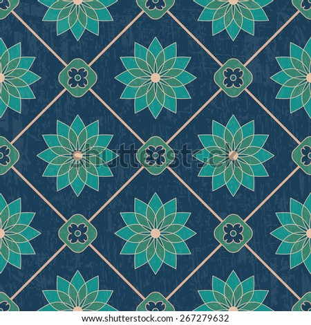Luxury ethnic ornamental pattern with old texture. Vector seamless background  - stock vector