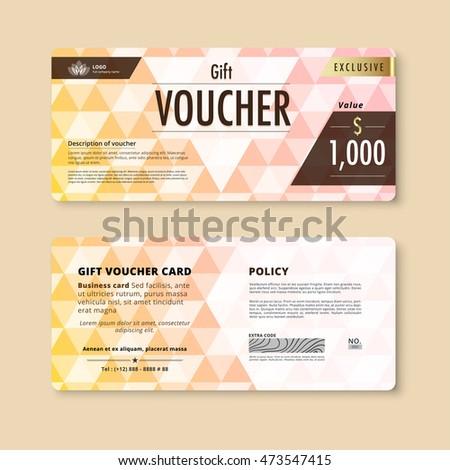 Luxury Gift Voucher Template Promotion Card Vector 473547415 – Voucher Card Template