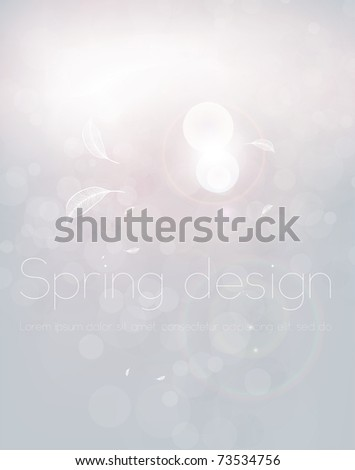 Luxury greeting card. Vector spring background. Eps10. - stock vector