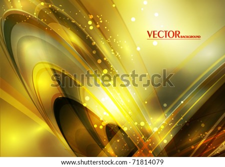 Luxury greeting card with lighting effect in retro style. Vector - stock vector